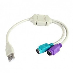 CABLE 3GO USB-PS-2
